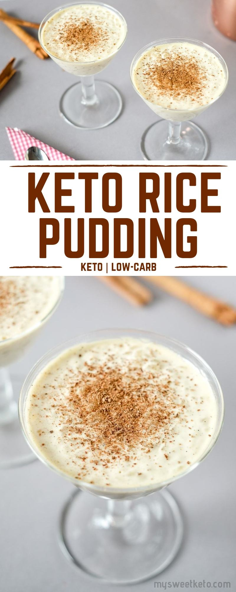 This keto low-carb rice pudding recipe is quick and easy. The rice pudding is creamy, not too sweet, and prepared in 25 minutes.