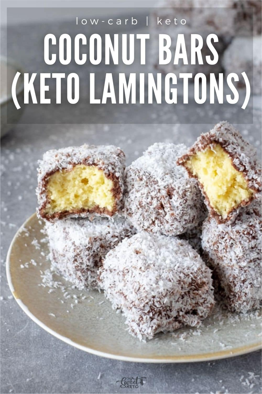 Have you ever had those spongy squares covered in a soft layer of chocolate and shredded coconut? Here is your chance to try Keto Lamingtons! #ketolamingtons