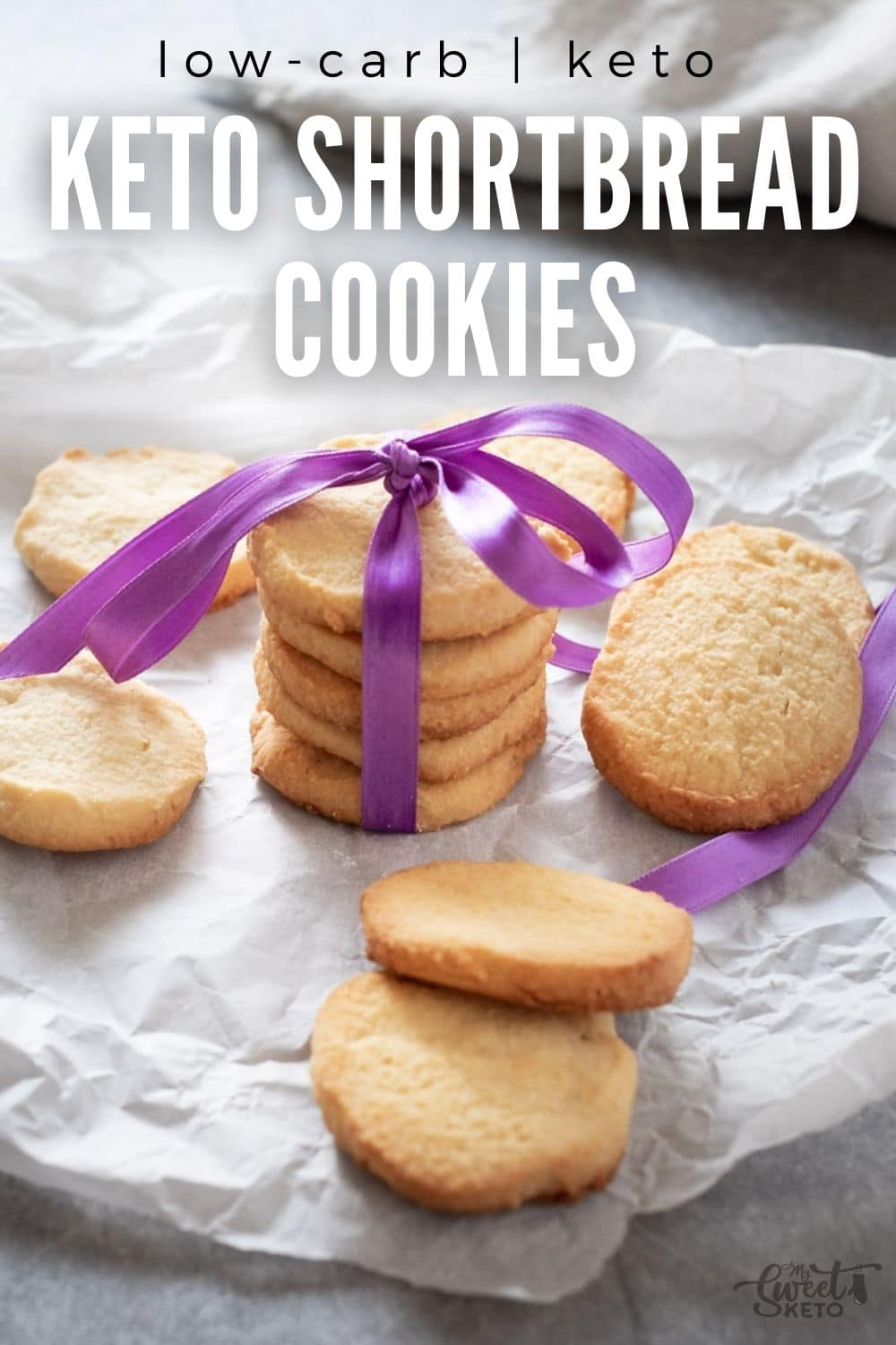 This is one of the most simple keto shortbread cookies recipes. Using only four main ingredients, these are a great treat despite simplicity! #keto #short #bread