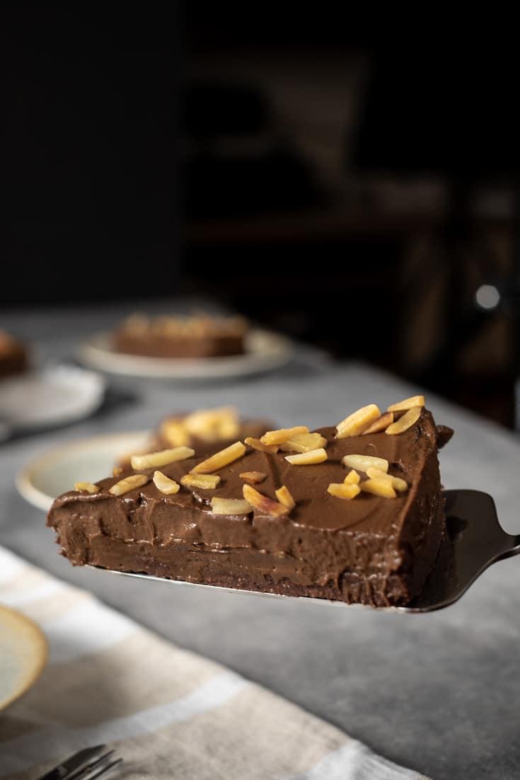 No Bake Keto Chocolate Cake (Vegan Friendly) recipe by My Sweet Keto #lowcarb #ketogenic