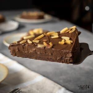In the flood of keto chocolate cake recipes, No Bake Keto Chocolate Cake is easy to make. Besides, it can be made entirely vegan friendly! #keto #ketocake #nobakecakerecipe