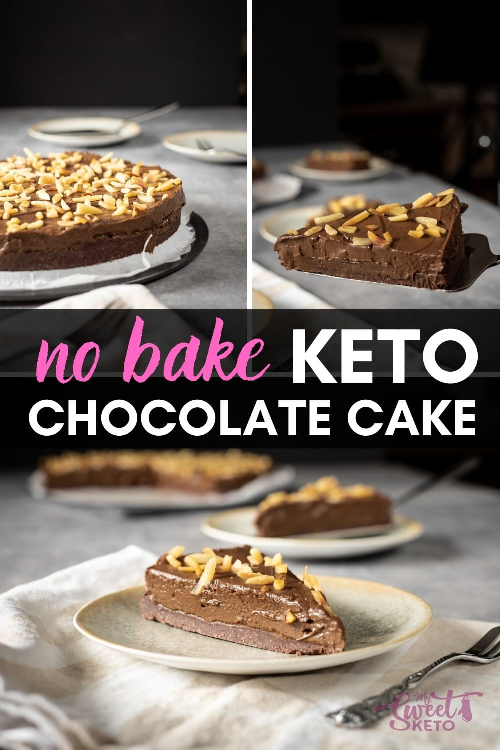 In the flood of keto chocolate cake recipes, No Bake Keto Chocolate Cake is easy to make. Besides, it can be made entirely vegan friendly! #keto #cake #ketofam #ketocake #ketochocolatecake